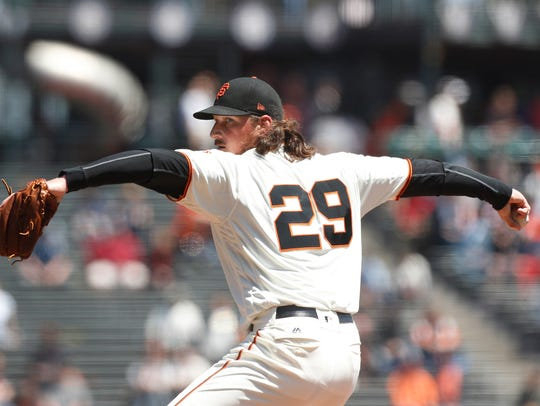 San Francisco Giants pitcher Jeff Samardzija DAY Sports