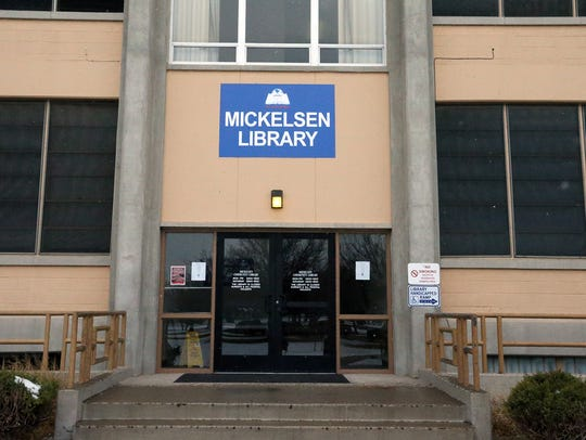 The Mickelsen Community Library is located in the basement