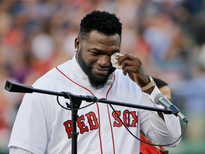 David Ortiz sheds a tear after he realizes he won't