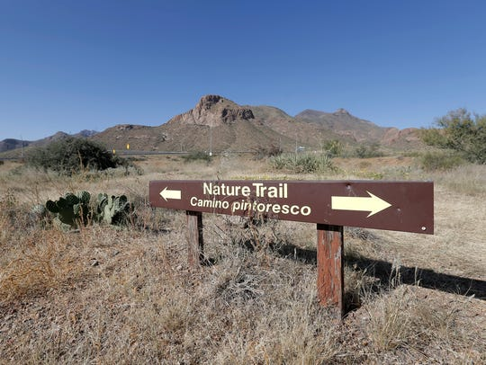 There is a small trail system at Castner Range outside