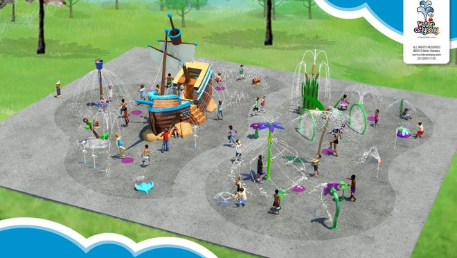 A pair of splash pad areas are planned at the White House Recreational Complex.