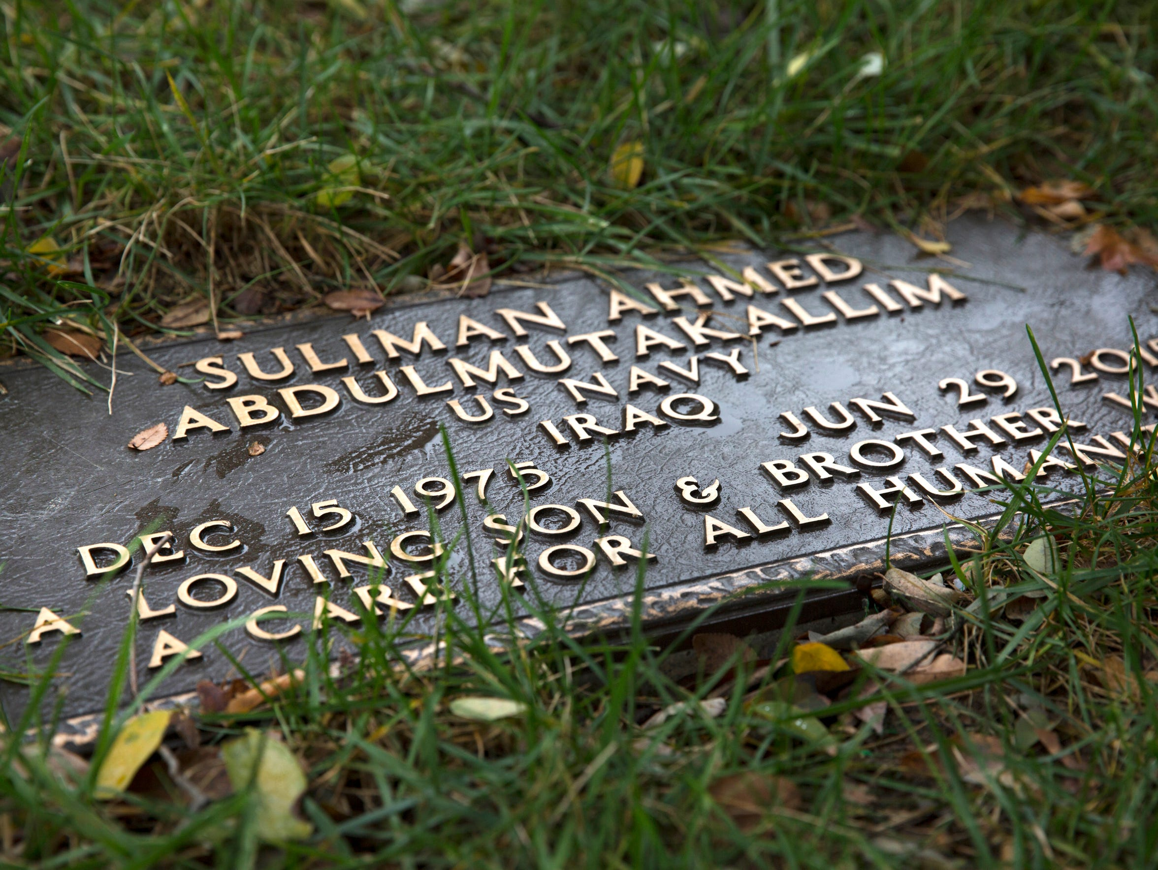Suliman Ahmed Abdul-Mutakallim, 39, is buried in the military section of Spring Grove Cemetery.