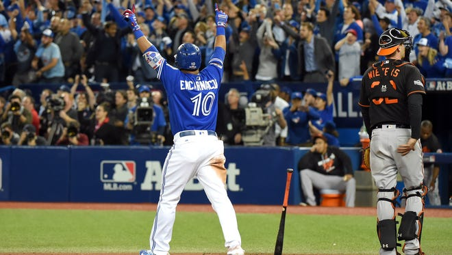 Edwin Encarnacion ended the 2016 AL wild card game with an 11th-inning home run.
