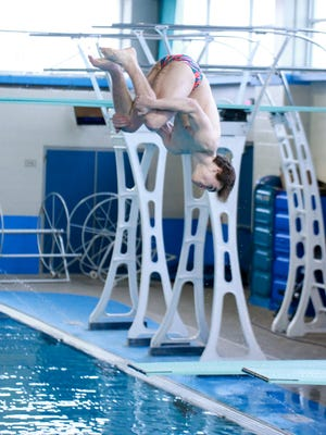 Carroll's Trevor Hazlewood took second place 1-meter diving at the Region VIII-5A Swimming and Diving Championships at the CCISD Natatorium on Friday..