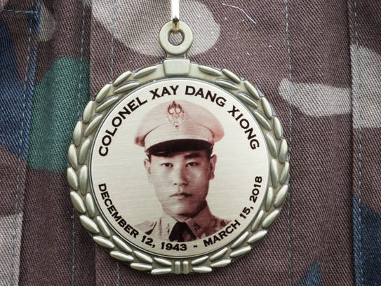 Family members and friends wore a medal in honor of