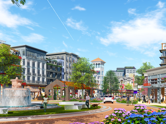 The Shopping Center Group out of Charlotte is using this rendering in marketing materials for BridgeWay Station in Mauldin, previously known as CenterPointe Business Park.