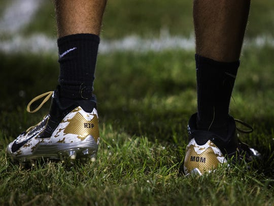 Ben Campbell's cleats feature a tribute to his late mother.