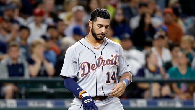 Detroit Tigers' Mike Aviles.