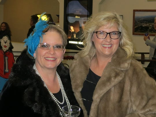 Peggy Peterson of Anderson (left) and Kim Faires of