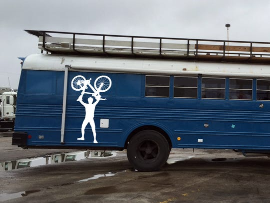 The Team Hot Sauce bus this year has been painted with Charlie Cutler's silhouette for all to see.
