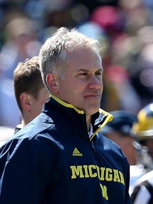 Michigan defensive coordinator D.J. Durkin