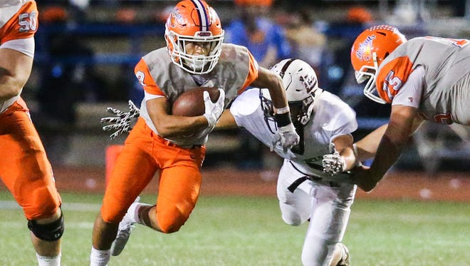 Central High School sophomore running back Bobby Pena had a game-high 80 yards rushing and one touchdown on seven carries in a 49-14 win on the road against Frenship on Friday night.