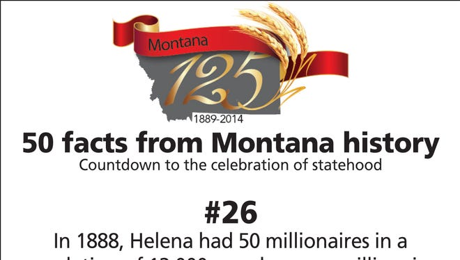 In 1888, Helena had 50 millionaires in a population of 12,000 people: more millionaires per capita than anywhere else in the world.