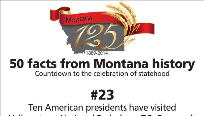 Ten American presidents have visited Yellowstone National Park, from T.R. Roosevelt in 1903 to Barack Obama in 2009.