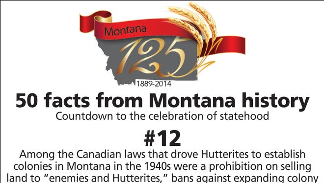 """Among the Canadian laws that drove Hutterites to establish colonies in Montana in the 1940s were a prohibition on selling land to """"enemies and Hutterites,"""" bans against expanding colony acreage and limits on proximity of colonies to other colonies."""