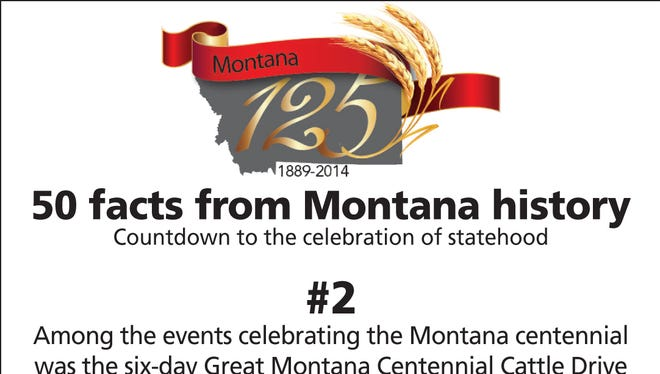 Among the events celebrating the Montana centennial was the six-day Great Montana Centennial Cattle Drive of 1989, during which 2,400 people drove 2,800 cattle 50 miles into Billings.