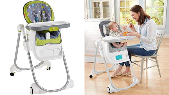 You can easily change this high chair into a booster seat.