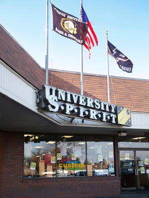 University Spirit store Tuesday, November 14, 2017, in the Chauncey Hill Mall in West Lafayette. The store, which sells Purdue University apparel, is closing.