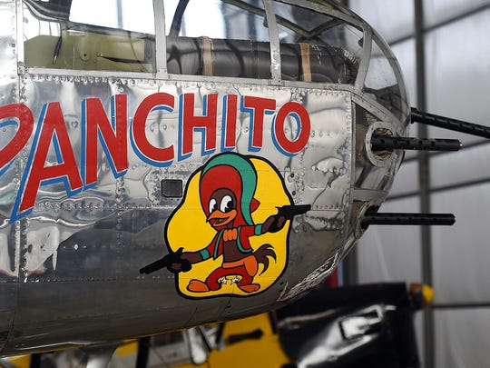 """The airport plays host to the Delaware Aviation Museum, home of countless vintage aircraft, including the restored World War II B-25 bomber """"Panchito."""""""
