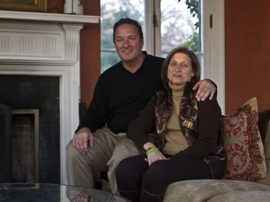 Dr. Mark Sobel and his wife, Mary Grace, in their home in Middletown in 2011. On Thursday night they will host a fundraiser to set up and endowed scholarship at the University of Maryland in memory of their late son, Mark Sobel Jr.