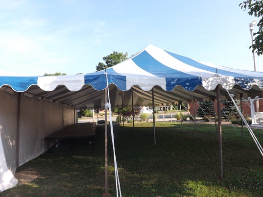 Nettle Creek Players tent