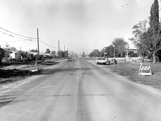 Thomas Road at 70th Street in the 1960s This picture, looking west, shows the Shell gasoline station at the intersection of 70th Street.