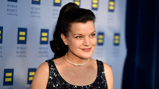 Pauley Perrette attends the Human Rights Campaign gala event.
