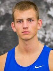 Hillsdale indoor track and field athlete Caleb Gatchell (Red Lion)