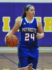Union County's Tara Williams moves the ball during