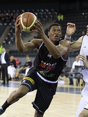 Former Monmouth University player Travis Taylor shown playing for the Gussing Knights in Austria earlier this month.