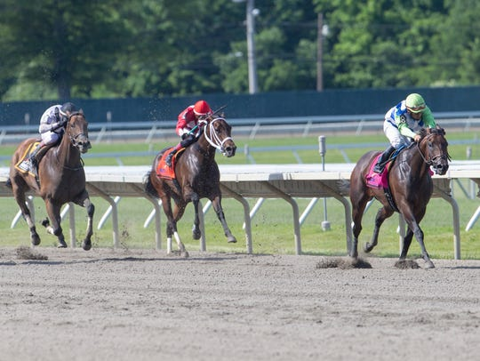 Chalon ridden by Paco Lopez wins $75,000 Regret Stakes