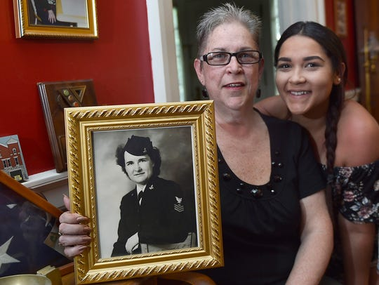Sally Brooks, left, and her daughter, Monet, share