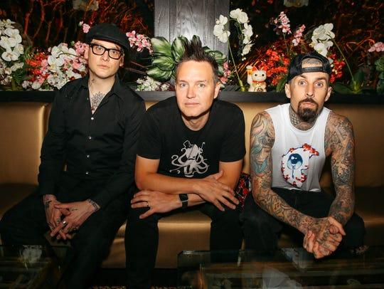 Matt Skiba, Mark Hoppus and Travis Barker of Blink