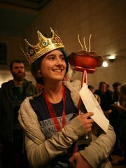 Yheva Martin, 12, took first prize at the Pie-O-Rama
