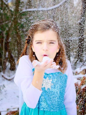 Natalie Warrick lives out her Frozen dreams as Elsa this week in Rutherford County.