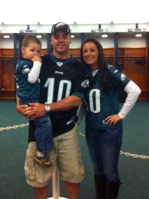 Chase, Tom and Jacquelyn Jackson are going to the Eagles' Huddle Up for Autism event for the third time Sunday.