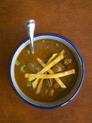 Beef tortilla soup at Robin Miller's home in Scottsdale