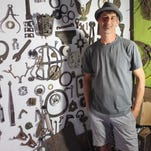 Craftsman's 'mad science' transforms salvaged material