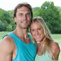 Married couple Adam Dirks and Bethany Hamilton. #SoulSurfers