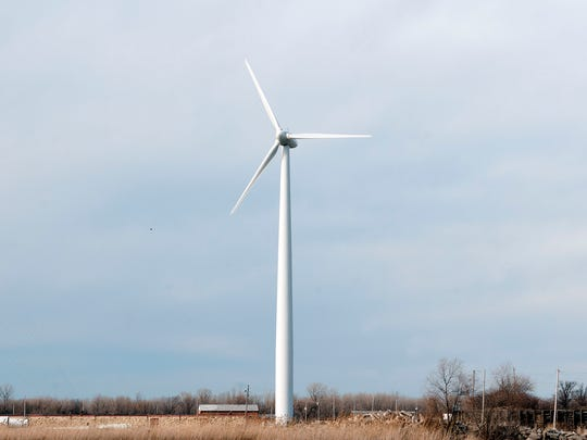 Birding groups have long opposed a proposed wind turbine like this one that had been proposed for Camp Perry, saying any turbines built along the Lake Erie shore would harm birds migrating through northwest Ohio, also hurting tourism and the local economy.