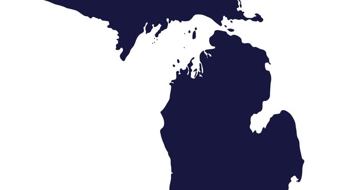 Outline of the state of Michigan.