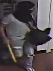 Security camera image of one of two burglars on Sept.