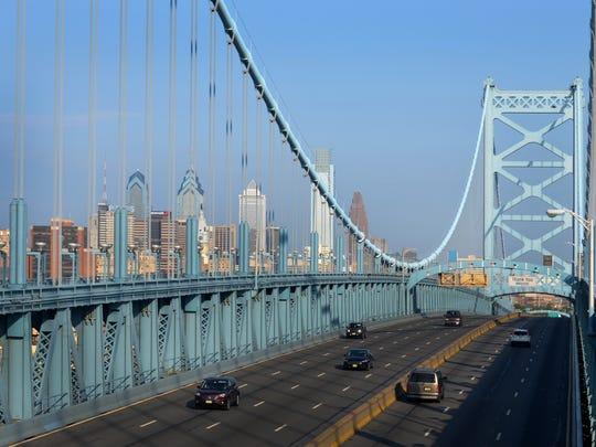 The Ben Franklin Bridge carries more than 35 million vehicles a year over the Delaware River between Camden and Philadelphia.