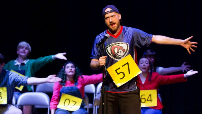 "Braeden Ayres plays Chip Tolentino in ""25th Annual Putnam County Spelling Bee"" at Quincy Music Theatre."