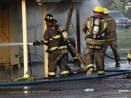 An abandoned restaurant in Robstown caught fire and took hours to extinguish Dec. 20, 2016.