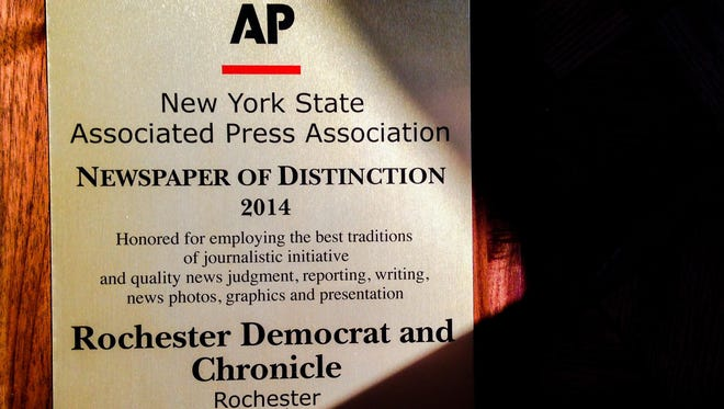 The Democrat and Chronicle was recognized with the Newspaper of Distinction award.