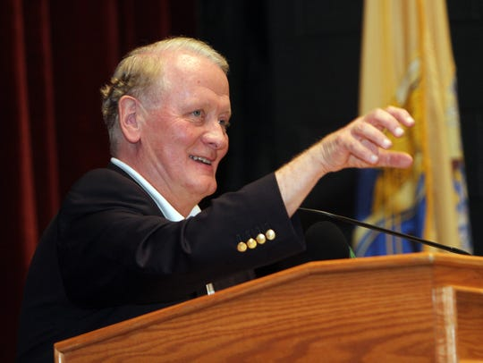 U.S. Rep. Leonard Lance holds his 45th in-person town