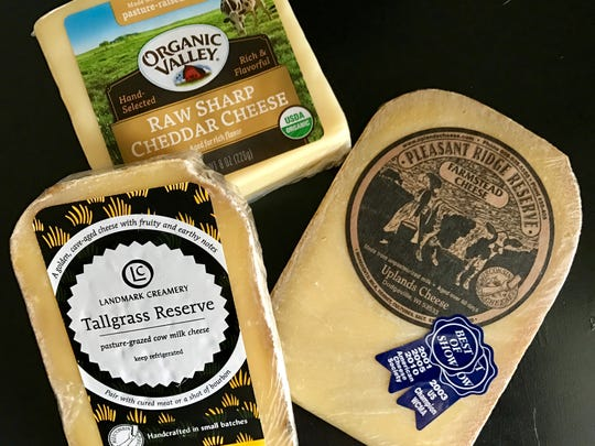 Milk from pasture-raised cows is used to make these Wisconsin cheeses.