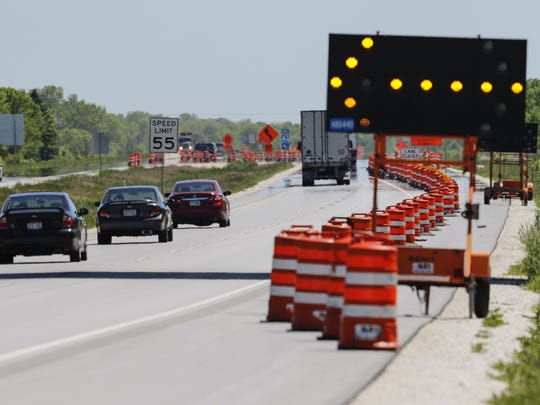 The start of construction on I-43 just south of the
