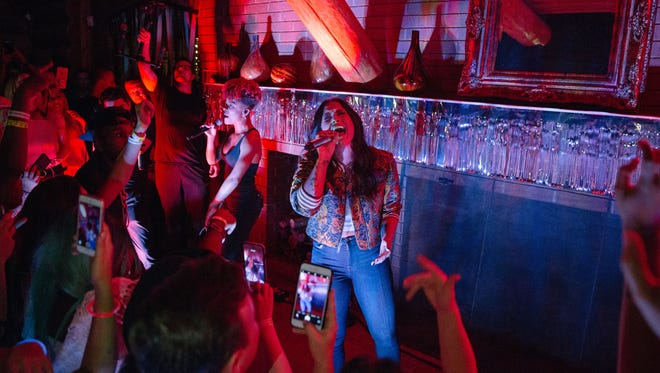 "Demi Lovato threw a ""house party"" at the Mansion at Fontanel in Nashville."